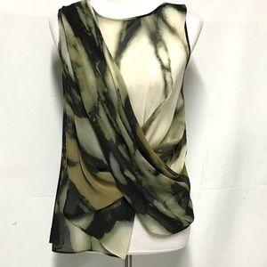 Rachel Roy draped sleeveless shirt